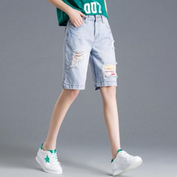 长腿利器牛仔短裤,美丽消夏不油腻