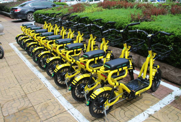 临沭县城区首批共享电动车正式投入使用