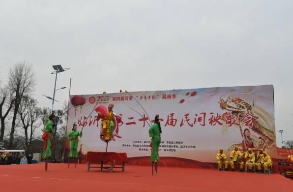 临沂罗庄:民俗秧歌闹元宵 同心筑梦迎百年