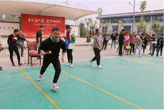 密切配合 赛出风采--曲阜市尼山镇举办第七届百姓儒学节暨趣味运动会