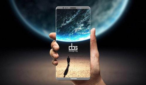 三星Note8正面屏幕框曝光:全视曲面屏